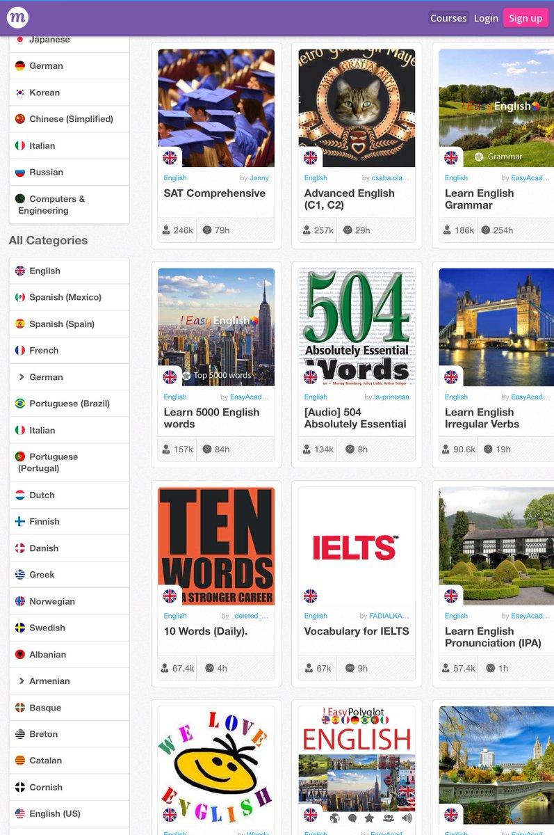 موقع متميز يوفر دورات ودروس مجانية لـ 200 لغة عالمية